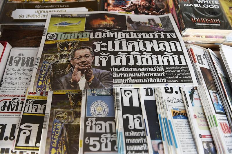 Thais awoke to confirmation of the death of billionaire Vichai Srivaddhanaprabha an abrupt end to a global success story in a sometimes inward-looking country (AFP Photo/Lillian SUWANRUMPHA)