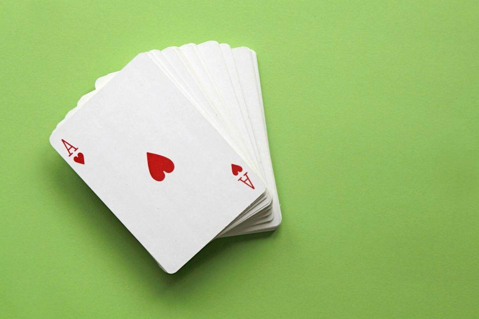 """<p>Winter is for long, heated card matches over mugs of hot apple cider, amirite? Challenge your lover to a few games of poker or gin—loser needs to make dinner. </p><p>If you're both big card players, amp up your skills with Daniel Negreanu's <a href=""""https://go.redirectingat.com?id=74968X1596630&url=https%3A%2F%2Fwww.masterclass.com%2Fclasses%2Fdaniel-negreanu-teaches-poker&sref=https%3A%2F%2Fwww.womenshealthmag.com%2Frelationships%2Fg33607313%2Fwinter-date-ideas%2F"""" rel=""""nofollow noopener"""" target=""""_blank"""" data-ylk=""""slk:MasterClass on Poker"""" class=""""link rapid-noclick-resp"""">MasterClass on Poker</a> and your game will never be the same.</p>"""