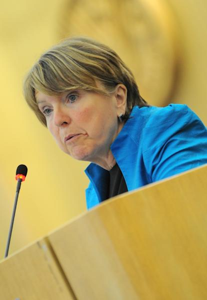 A panel led by Barbara Stocking (pictured) will present its final report in June (AFP Photo/Andreas Solaro)