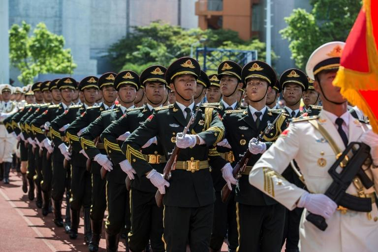 The PLA has maintained a garrison in Hong Kong since the city's return to China in 1997, but its troops generally keep a low profile and are rarely seen in uniform in public