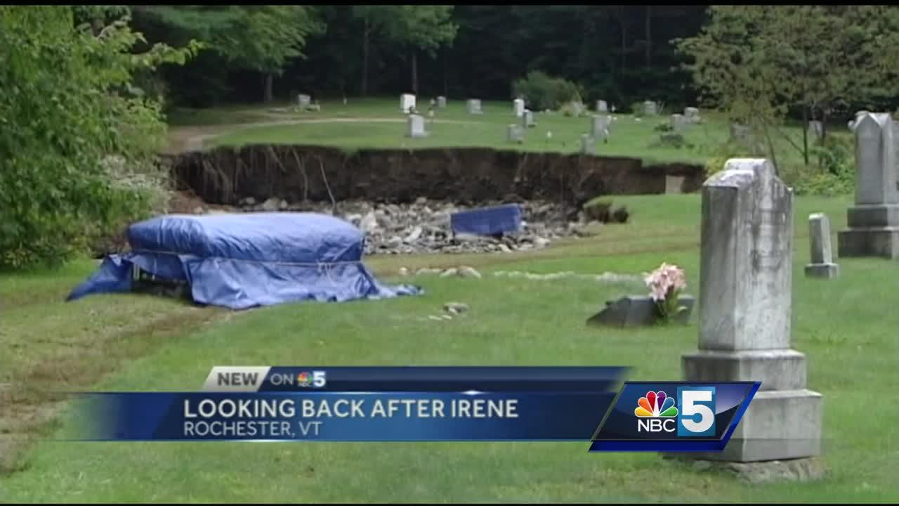Looking at Woodlawn Cemetery today, it's hard to tell the property was torn apart by hurricane Irene just five years ago.  But according to cemetery commissioner Marvin Harvey, it's taken a while to finally get there.  He said he remembers how the entire town was severely impacted.