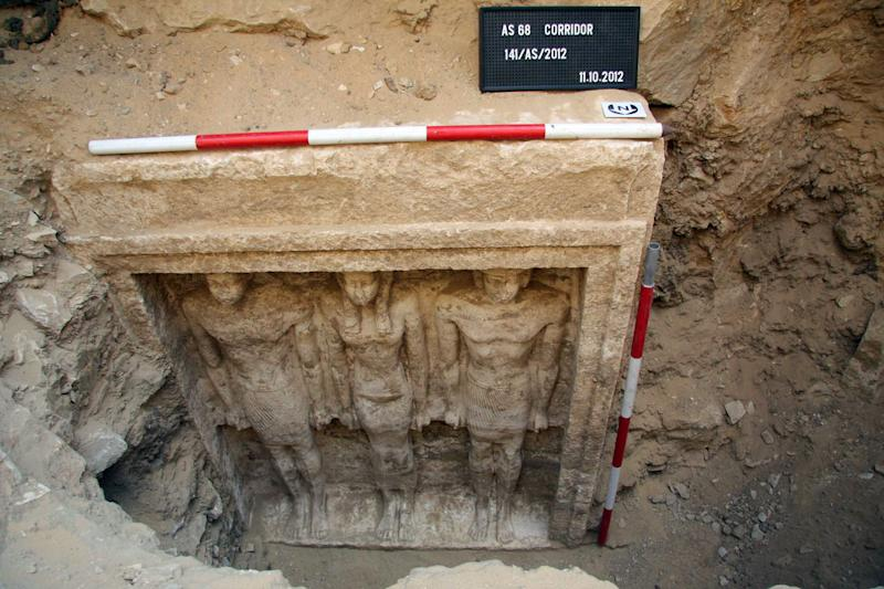 The tomb of Princess Shert Nebti in Abu Sir, south of Cairo, dating from around 2,500 BC and discovered in 2012