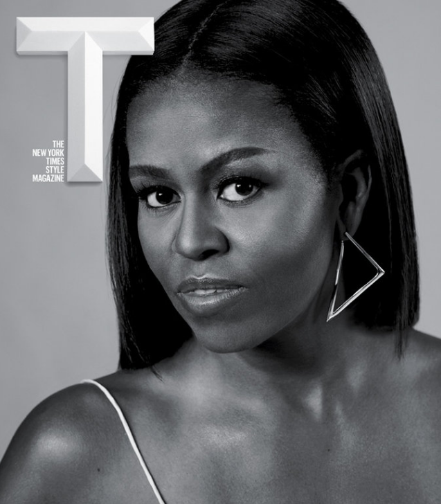 First Lady Michelle Obama is the picture of strength and beauty on the cover of T magazine. (Photo: T magazine)