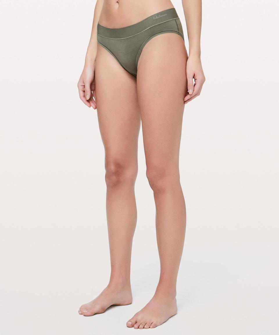 """<p><strong>Lululemon</strong></p><p>lululemon.com</p><p><strong>$18.00</strong></p><p><a href=""""https://go.redirectingat.com?id=74968X1596630&url=https%3A%2F%2Fshop.lululemon.com%2Fp%2Fwomen-underwear%2FMula-Bandhawear-Bikini%2F_%2Fprod1720403&sref=https%3A%2F%2Fwww.oprahmag.com%2Fstyle%2Fg34128359%2Fcomfortable-underwear-for-women%2F"""" rel=""""nofollow noopener"""" target=""""_blank"""" data-ylk=""""slk:SHOP NOW"""" class=""""link rapid-noclick-resp"""">SHOP NOW</a></p><p>Proof that it's possible to find underwear that's comfortable even through the most vigorous workouts. The silky soft fabric is both sweat-wicking and quick drying to increase breathability and prevent chafing. </p>"""