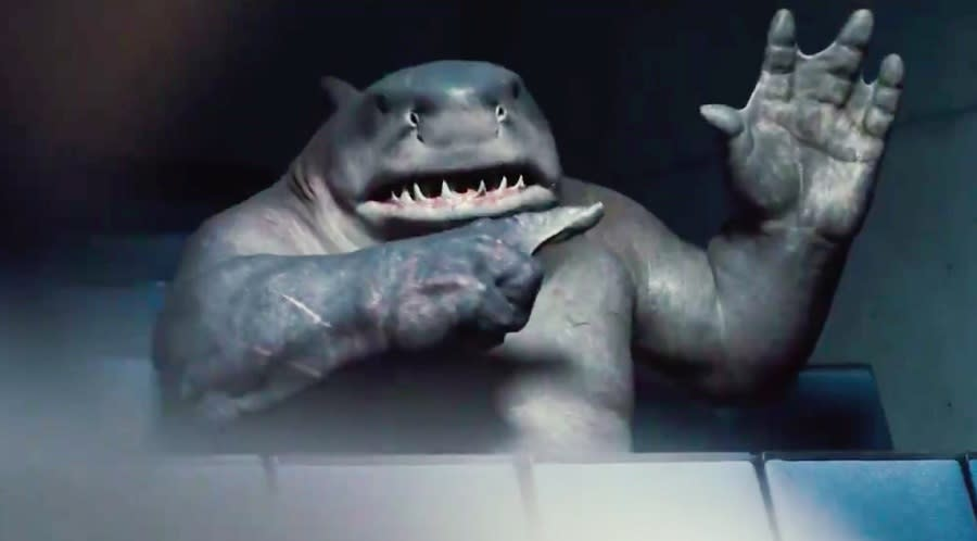 King Shark totally has the best moment in the Suicide Squad trailer.