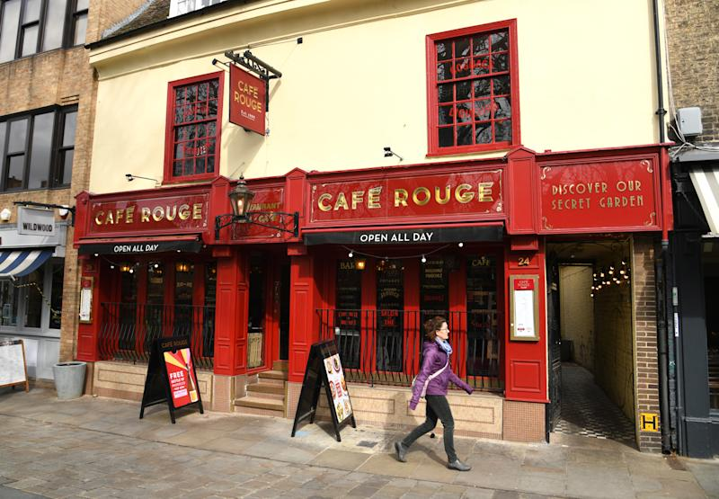 Cafe Rouge restaurant, Cambridge City Centre. Photo credit should read: Doug Peters/EMPICS