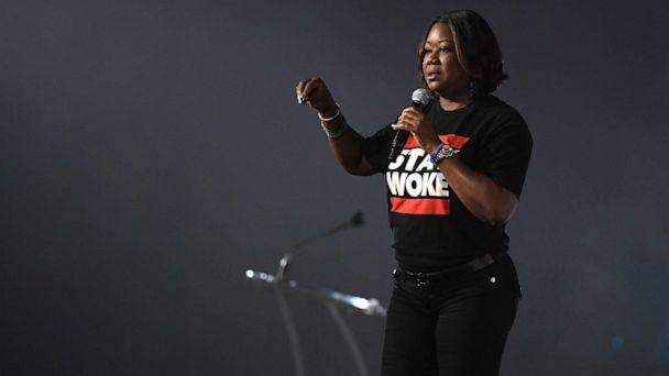 PHOTO: Sybrina Fulton, mother of Trayvon Martin, speaks onstage at the 2017 ESSENCE Festival, June 30, 2017, in New Orleans. (Paras Griffin/Getty Images )