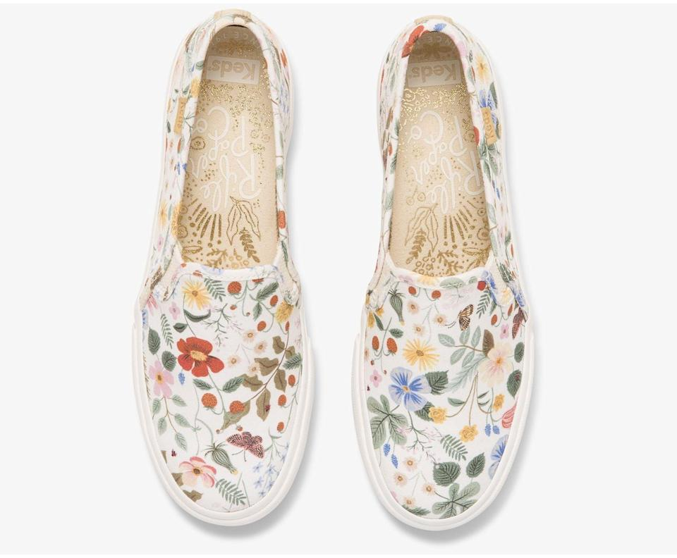 <p>These <span>Keds x Rifle Paper Co. Double Decker Strawberry Fields Sneakers</span> ($70) might just become your new favorite shoes. They may be printed, but they're actually easy to style and wear with sundresses, casual jeans, or slip skirts. </p>
