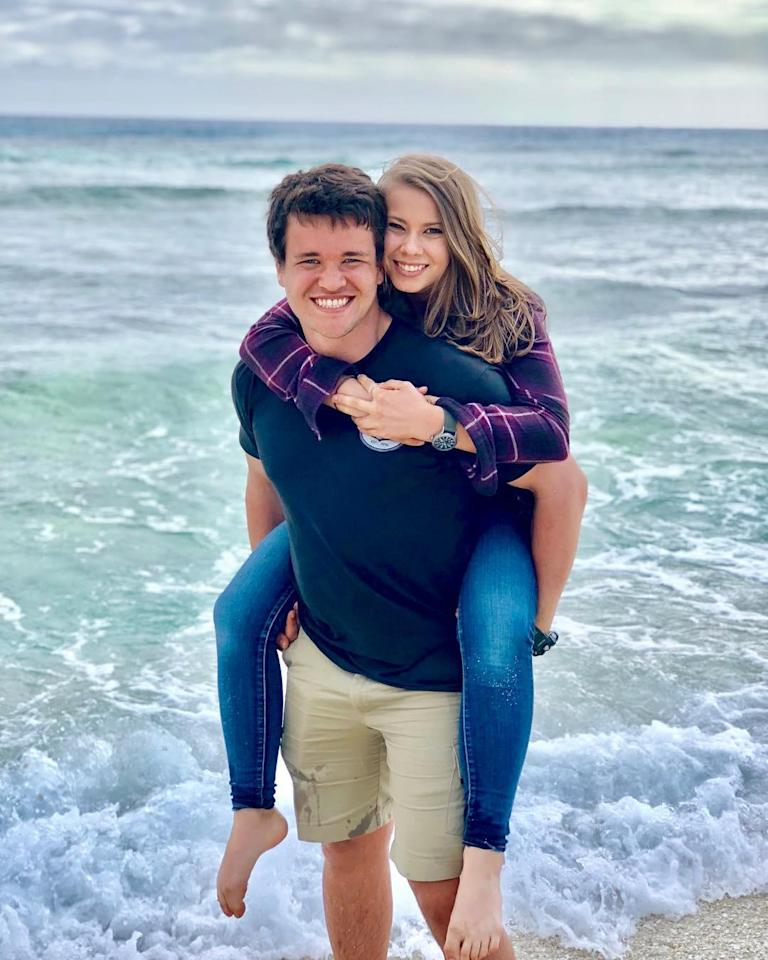 """<p>Once again Chandler Powell and Bindi Irwin are adorable while enjoying some time at the beach. """"I love adventuring through life with you,"""" Chandler captioned this image with him and Bindi.</p>"""