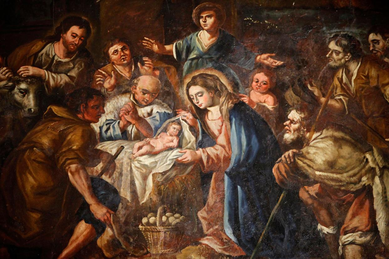 """For the first 300 years of Christianity, the church did not have a feast day set aside to celebrate Jesus's birth. It wasn't until 336 A.D. that December 25 <a href=""""http://www.biblicalarchaeology.org/daily/biblical-topics/new-testament/how-december-25-became-christmas/"""" rel=""""nofollow noopener"""" target=""""_blank"""" data-ylk=""""slk:first showed up"""" class=""""link rapid-noclick-resp"""">first showed up</a>&nbsp;in records as a&nbsp;holiday commemorating its founder's birthday, listed in a Roman almanac on Christian bishops and martyrs."""