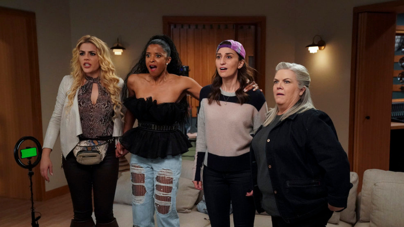 Busy Philipps, Renée Elise Goldsberry, Sara Bareilles, Paula Pell in Girls5eva