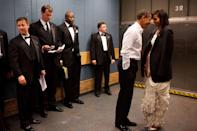 <p>After the 2009 Inaugural Ball, the Obamas look the elevator straight to Cloud Nine, and this photo is proof! </p>