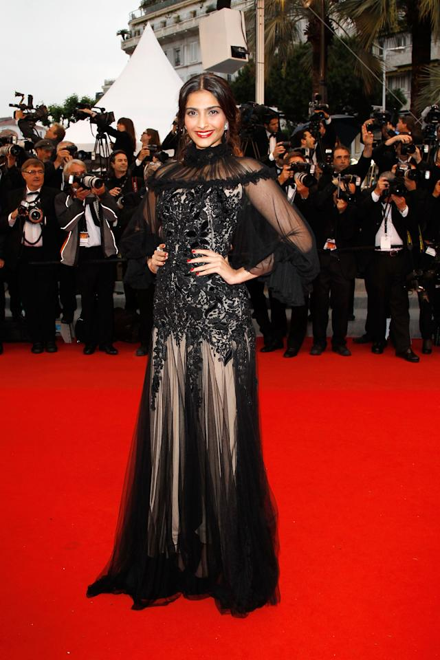 "CANNES, FRANCE - MAY 27:  Sonam Kapoor attends the Closing Ceremony and ""Therese Desqueyroux"" premiere during the 65th  Annual Cannes Film Festivalon May 27, 2012 in Cannes, France.  (Photo by Andreas Rentz/Getty Images)"