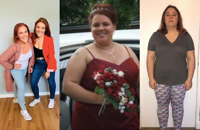 The mother and daughter duo lost a whopping 11 stone between them. (PA Real Life)