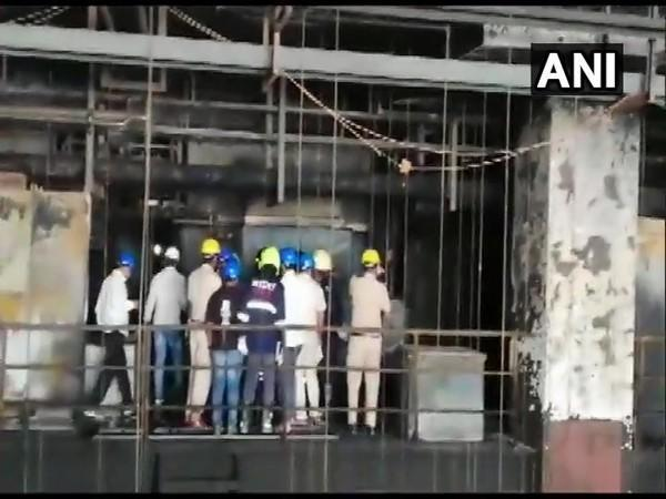 Visual of forensic team inspecting SII in Pune. (Photo/ANI)
