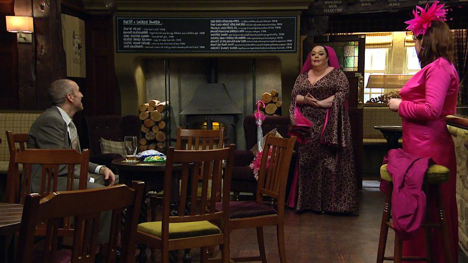 FROM ITV  STRICT EMBARGO  Print media - No Use Before Tuesday 23rd March 2021 Online Media - No Use Before 0700hrs  Tuesday 23rd March 2021  Emmerdale - Ep 901011  Thursday 1st April 2021  Mandy Dingle [LISA RILEY] in her wedding dress  Picture contact David.crook@itv.com   This photograph is (C) ITV Plc and can only be reproduced for editorial purposes directly in connection with the programme or event mentioned above, or ITV plc. Once made available by ITV plc Picture Desk, this photograph can be reproduced once only up until the transmission [TX] date and no reproduction fee will be charged. Any subsequent usage may incur a fee. This photograph must not be manipulated [excluding basic cropping] in a manner which alters the visual appearance of the person photographed deemed detrimental or inappropriate by ITV plc Picture Desk. This photograph must not be syndicated to any other company, publication or website, or permanently archived, without the express written permission of ITV Picture Desk. Full Terms and conditions are available on  www.itv.com/presscentre/itvpictures/terms