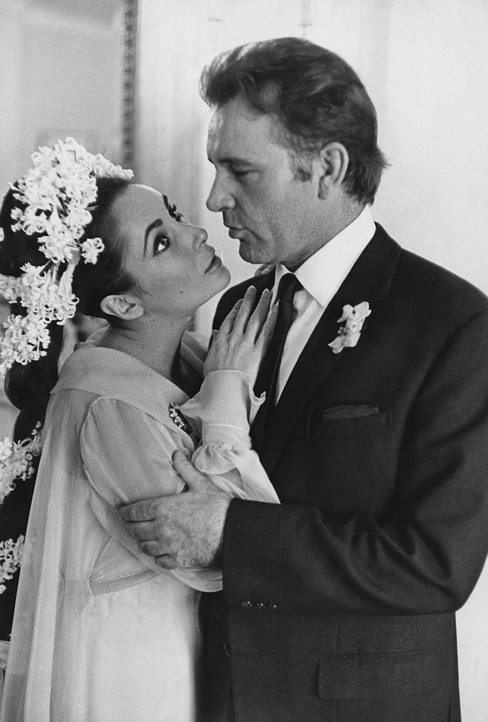 <p>After meeting on the set of <em>Cleopatra</em> and commencing a paparazzi-ravaged relationship, Elizabeth Taylor and Welsh actor Richard Burton tied the knot in Montreal, Canada, on March 15. The in-love stars made a whopping 11 movies together before divorcing in June 1974. But their story wasn't quite finished, because they remarried again in October 1975, in Botswana. The flame flickered out eventually, however: The couple divorced a second time in July 1976.</p>