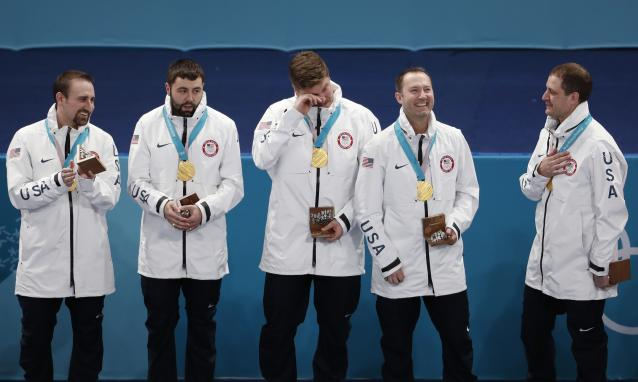 The U.S. men's curling team realized they had the wrong gold medals before it was too late. (Reuters)