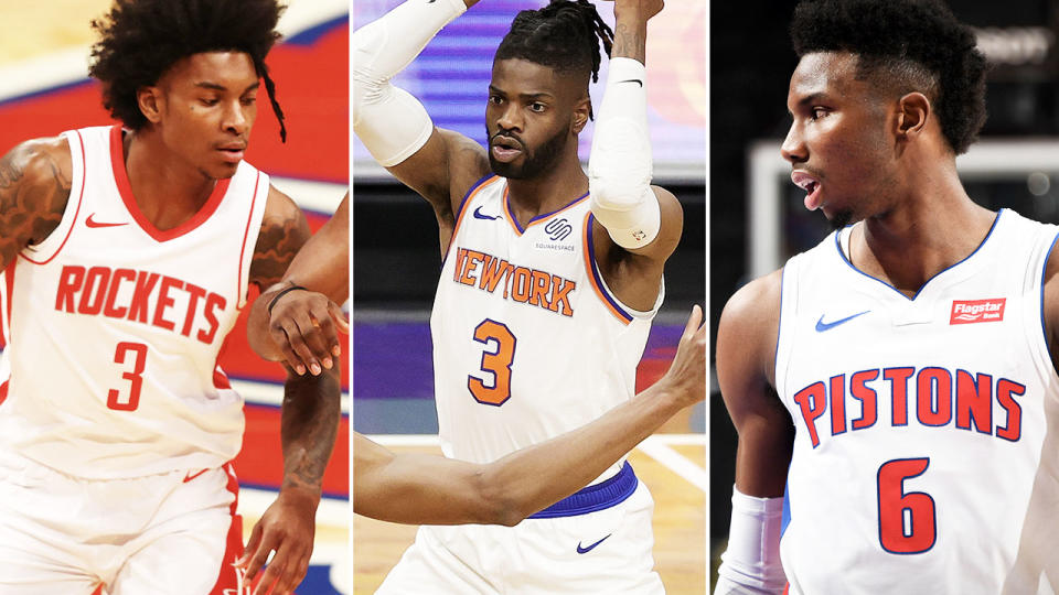 Kevin Porter, Nerlens Noel and Hamidou Diallo, pictured here in action in the NBA.