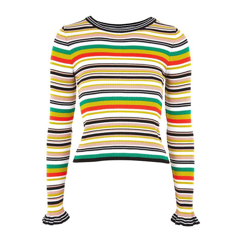 """<a rel=""""nofollow"""" href=""""http://rstyle.me/n/ci6juvjduw"""">Hyper Stripe Knitted Crop Jumper, Topshop, $50</a><p>     <strong>Related Articles</strong>     <ul>         <li><a rel=""""nofollow"""" href=""""http://thezoereport.com/fashion/style-tips/box-of-style-ways-to-wear-cape-trend/?utm_source=yahoo&utm_medium=syndication"""">The Key Styling Piece Your Wardrobe Needs</a></li><li><a rel=""""nofollow"""" href=""""http://thezoereport.com/beauty/celebrity-beauty/ciara-baby-shower-flower-crown/?utm_source=yahoo&utm_medium=syndication"""">Ciara Just Made This Major Spring Trend Fresh Again</a></li><li><a rel=""""nofollow"""" href=""""http://thezoereport.com/beauty/nails/nail-trend-press-on-nails/?utm_source=yahoo&utm_medium=syndication"""">This '90s Nail Trend Is Back, And We're Obsessed</a></li>    </ul> </p>"""