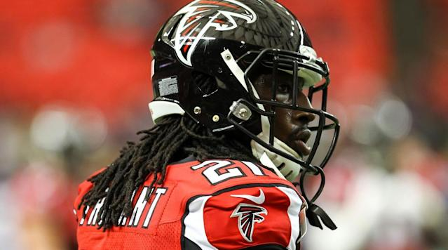"""<p>The Falcons have signed cornerback Desmond Trufant to a long-term contract extension, the team announced.</p><p>According to multiple <a href=""""http://www.espn.com/nfl/story/_/id/19109031/atlanta-falcons-agree-5-year-extension-cb-desmond-trufant"""" rel=""""nofollow noopener"""" target=""""_blank"""" data-ylk=""""slk:reports"""" class=""""link rapid-noclick-resp"""">reports</a>, the deal is worth $69 million with $42 million guaranteed.</p><p>""""We are really happy to be able to get this extension done,"""" general manager Thomas Dimitroff said in a statement. """"Trufant has proven to be a valuable leader to our team, and embodies every trait that Coach Quinn and I are looking for from players that are a part of our brotherhood. Trufant has improved each year and we believe his best ball is still in front of him. We knew this extension was going to be a component to our offseason plan and I am excited with the way we have been able to execute our entire plan as we have built our roster.""""</p><p>Trufant, the team's top corner, was due to make $8,026,000 this season after the Falcons exercised the fifth-year option on his rookie deal. The new money makes him the fourth-highest paid cornerback in the league.</p><p>A first-round pick in 2013, Trufant has recorded 168 tackles, 48 passes defensed, 7 interceptions and 3 sacks in four NFL seasons. </p>"""