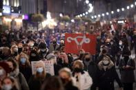 Women's Strike protest in Warsaw