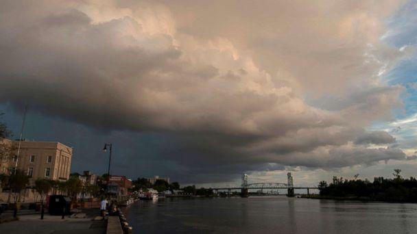 PHOTO: A large rain cloud passes over a day before the arrival of hurricane Florence in Wilmington, N.C. on Sept. 12, 2018. (Andrew Caballero/AFP/Getty Images)