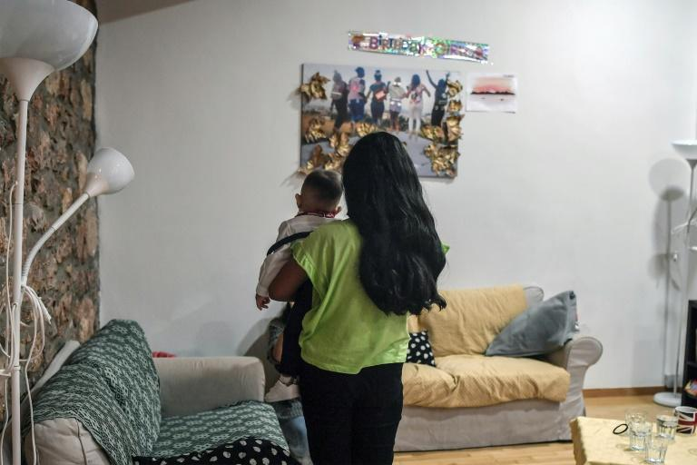 The NGO Home Project runs shelters for migrant girls and mothers, providing them with legal aid along with psychological and educational support (AFP Photo/LOUISA GOULIAMAKI)