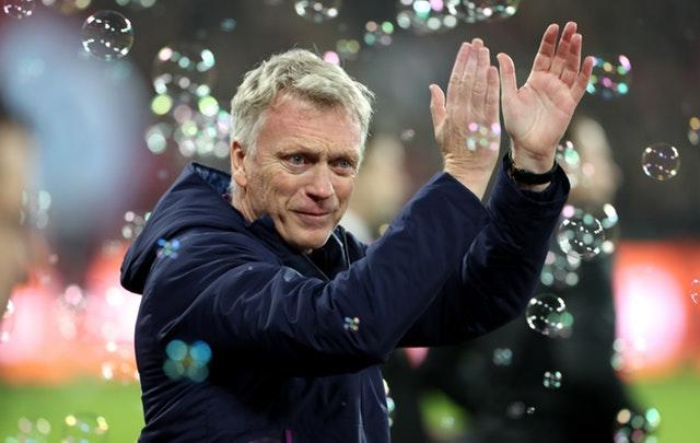 Moyes received a lukewarm reception before kick-off
