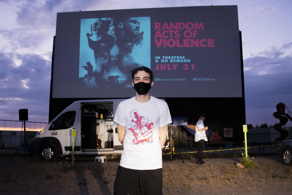"""Jay Baruchel attends the Canadian premiere of """"Random Acts Of Violence"""" held at The 5 Drive-In on July 29, 2020. (Photo by George Pimentel/Getty Images)"""