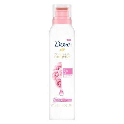 """<h3>Dove Body Wash Mousse with Rose Oil</h3> <p>For a more budget-friendly option, Dr. King likes this mousse that doubles as both a body wash and a shaving cream. """"With glycerin to hydrate and stearic acid as an emollient, it's able to moisturize and protect the skin,"""" she says. """"Stearic acid has been shown to protect the skin's surface against water loss and support the skin's protective barrier, and the rose oil provides a light, fresh fragrance.""""</p> <br> <br> <strong>Dove</strong> Body Wash Mousse with Rose Oil , $5.99, available at <a href=""""https://www.target.com/p/dove-body-wash-mousse-with-rose-oil-10-3oz/-/A-75567411"""" rel=""""nofollow noopener"""" target=""""_blank"""" data-ylk=""""slk:Target"""" class=""""link rapid-noclick-resp"""">Target</a>"""