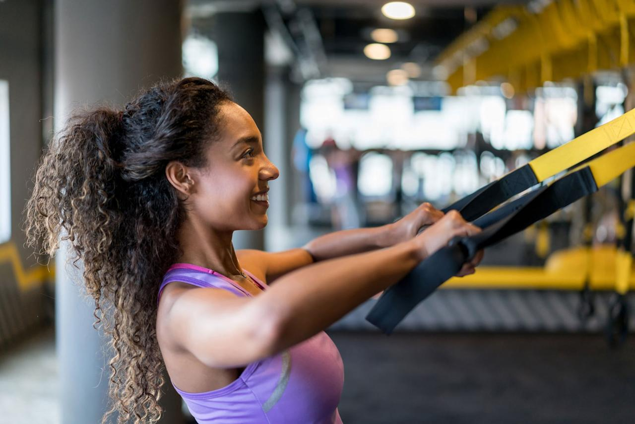 """<p>Results can be measured in so many different ways. If a person is looking at the scale, exercise physiologist and NASM-certified personal trainer Krissi Williford, MS, from <a href=""""http://www.xcitefitnessal.com"""" target=""""_blank"""" class=""""ga-track"""" data-ga-category=""""Related"""" data-ga-label=""""http://www.xcitefitnessal.com"""" data-ga-action=""""In-Line Links"""">Xcite Fitness</a> said they should see the numbers going down week after week, as long as they're <a href=""""https://www.popsugar.com/fitness/How-Stay-Calorie-Deficit-45319362"""" class=""""ga-track"""" data-ga-category=""""Related"""" data-ga-label=""""https://www.popsugar.com/fitness/How-Stay-Calorie-Deficit-45319362"""" data-ga-action=""""In-Line Links"""">eating in a calorie deficit</a>. </p> <p>Granderson added that if an individual is participating in a strength training program, she may lose body fat mass and gain muscle mass. Though there has been a decrease in fat mass, the increase in muscle mass may make the number on the scale seem stagnant. You will slim down, but the number may not change on the scale for a period of time.</p> <p>If a person is using the way their clothes fit as a gauge, it could take several weeks to see a difference depending on how fast the person is working to lose weight. Williford said, """"one clothing size is about 10 pounds, so you'd need to lose somewhere between five and 10 pounds for clothes to fit better.""""</p> <p>If the way you look in the mirror is the measure for results, then it may take longer - usually at about 15 to 20 pounds of weight loss, the person will see a difference in the mirror, said Williford. She added that a good tool to see results is to <a href=""""https://www.popsugar.com/fitness/Weight-Loss-Motivation-Tip-43723734"""" class=""""ga-track"""" data-ga-category=""""Related"""" data-ga-label=""""https://www.popsugar.com/fitness/Weight-Loss-Motivation-Tip-43723734"""" data-ga-action=""""In-Line Links"""">take pictures</a>. Most people are reluctant, but if you take them every one to two weeks, they're a great way to see """