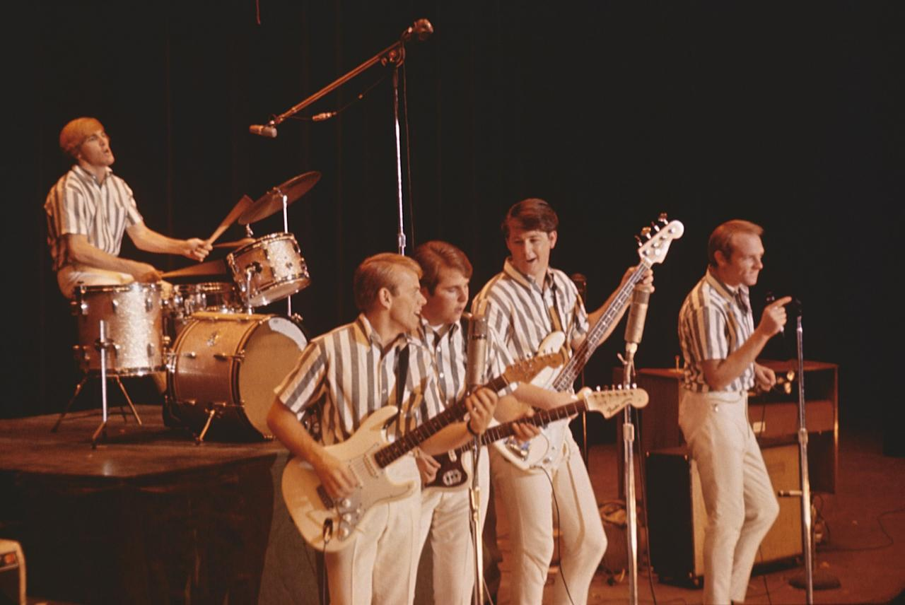 <p>The Beach Boys brought California style to the world of boy bands. These short-sleeve button-down shirts, which are something like a Hawaiian shirt crossed with a barbershop quartet uniform, are a perfect example.</p>