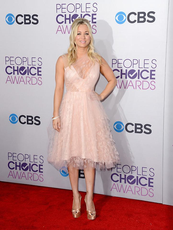 Kaley Cuoco attends the 39th Annual People's Choice Awards at Nokia Theatre L.A. Live on January 9, 2013 in Los Angeles, California.