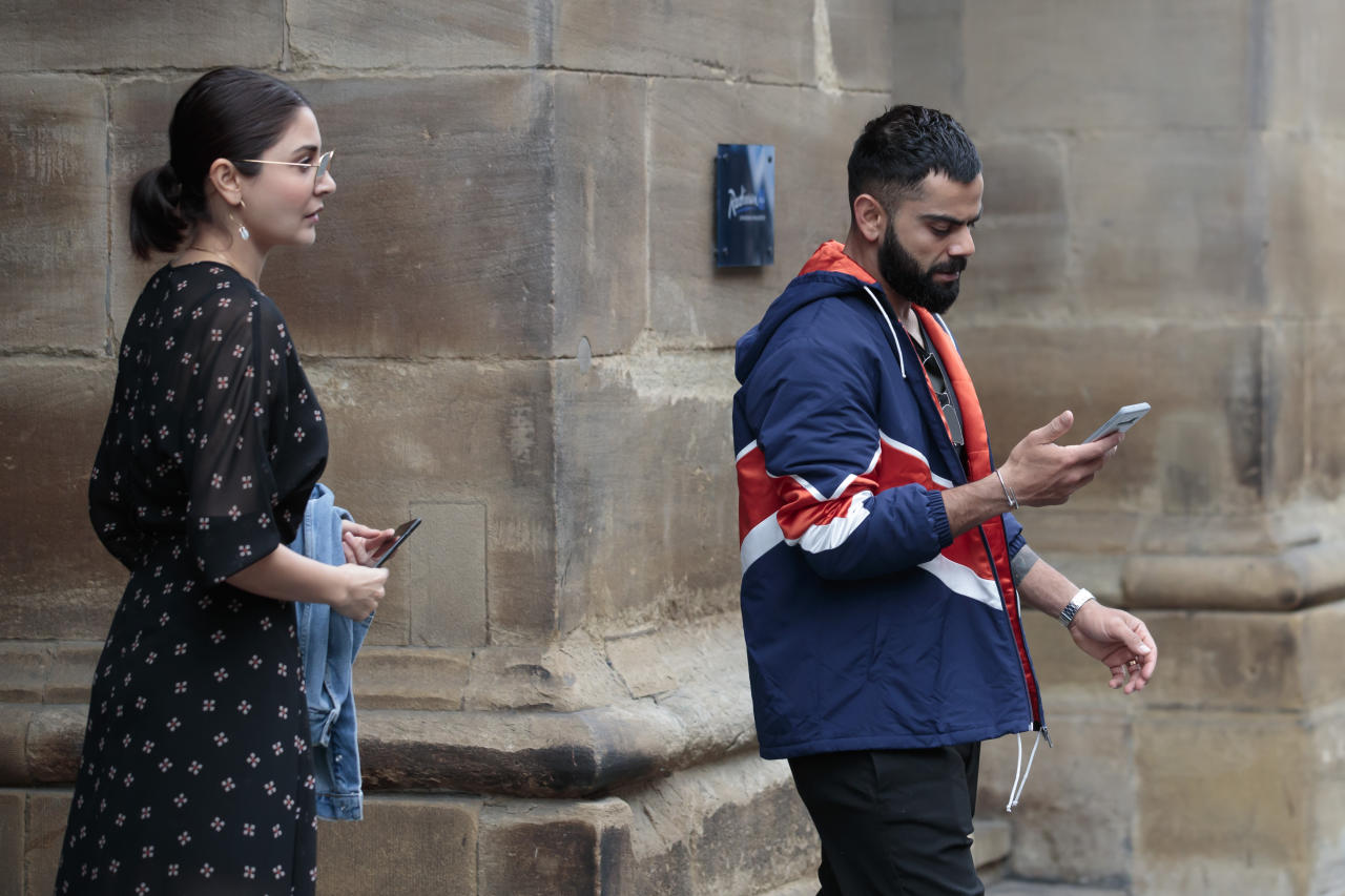 India cricket captain Virat Kohli leaves the team hotel in Manchester city centre, the day after his team stumbled to an 18-run defeat by New Zealand at Old Trafford cricket ground in Manchester, England, Thursday, July 11, 2019. (AP Photo/Jon Super)