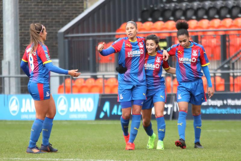 Gemma Bryan with her former Crystal Palace teammates