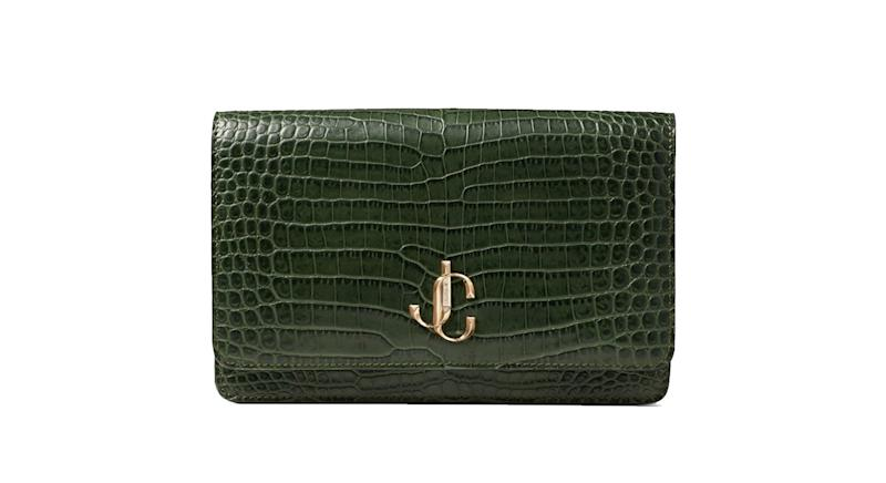 Jimmy Choo Croc-Embossed Leather Palace Bag