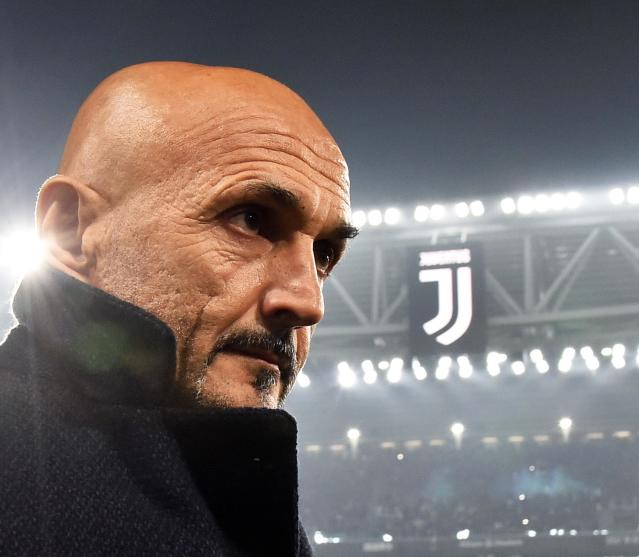 Inter Milan coach Luciano Spalletti enters the pitch prior to the Serie A soccer match between Juventus and Inter Milan at the Turin Allianz stadium, Italy, Friday, Dec. 7, 2018. (Andrea Di Marco/ANSA via AP)