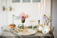 "<p>A bit of white tulle lends whimsy and romance to any decor setting. Here, a vignette with a small vase of roses, traditional clocks, and a place setting is elegantly draped with tulle. </p><p><em>Via <a href=""http://www.acharmingfete.com/"" rel=""nofollow noopener"" target=""_blank"" data-ylk=""slk:A Charming Fete"" class=""link rapid-noclick-resp"">A Charming Fete</a></em><br></p><p><a class=""link rapid-noclick-resp"" href=""https://www.amazon.com/Vlovelife-Tableware-TableCloth-Decorations-Customized/dp/B01M0XNQ50?tag=syn-yahoo-20&ascsubtag=%5Bartid%7C10052.g.2387%5Bsrc%7Cyahoo-us"" rel=""nofollow noopener"" target=""_blank"" data-ylk=""slk:GET THE LOOK"">GET THE LOOK</a><em><br>White Tulle Table Skirt, Amazon, $18</em></p>"