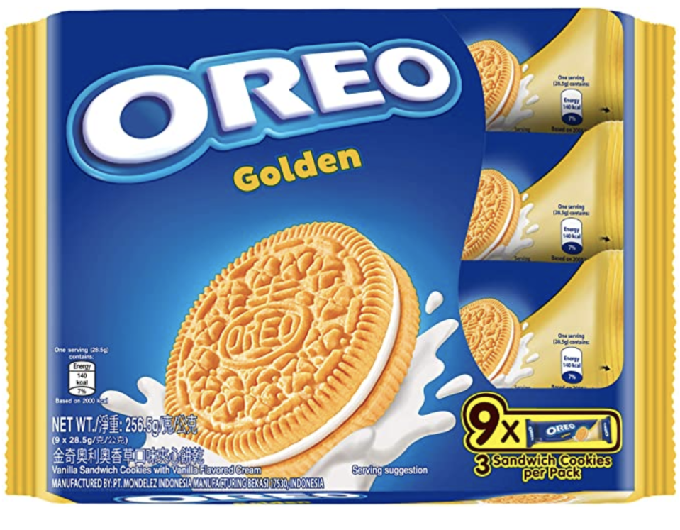 Oreo Golden Oreo Sandwich. (PHOTO: Amazon)