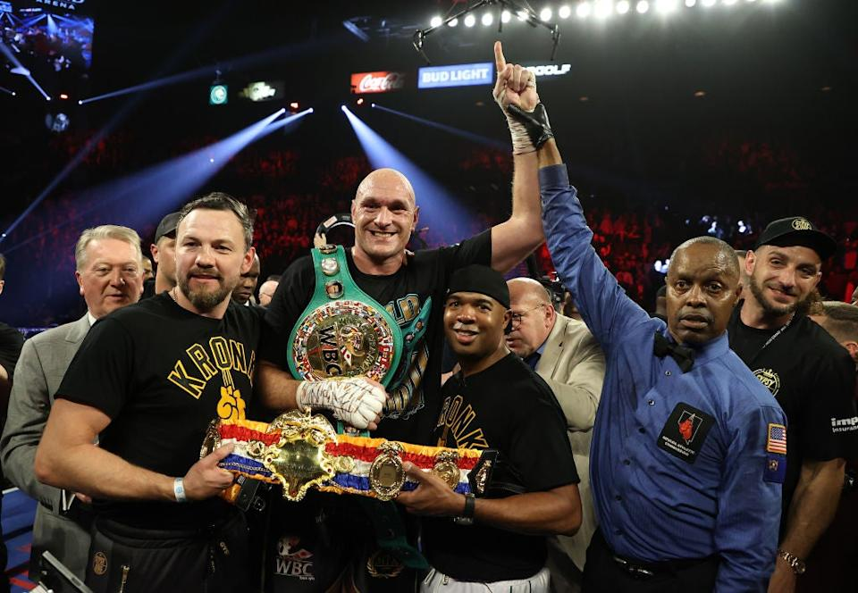 <p>The Briton was victorious against Deontay Wilder earlier this year</p>Getty