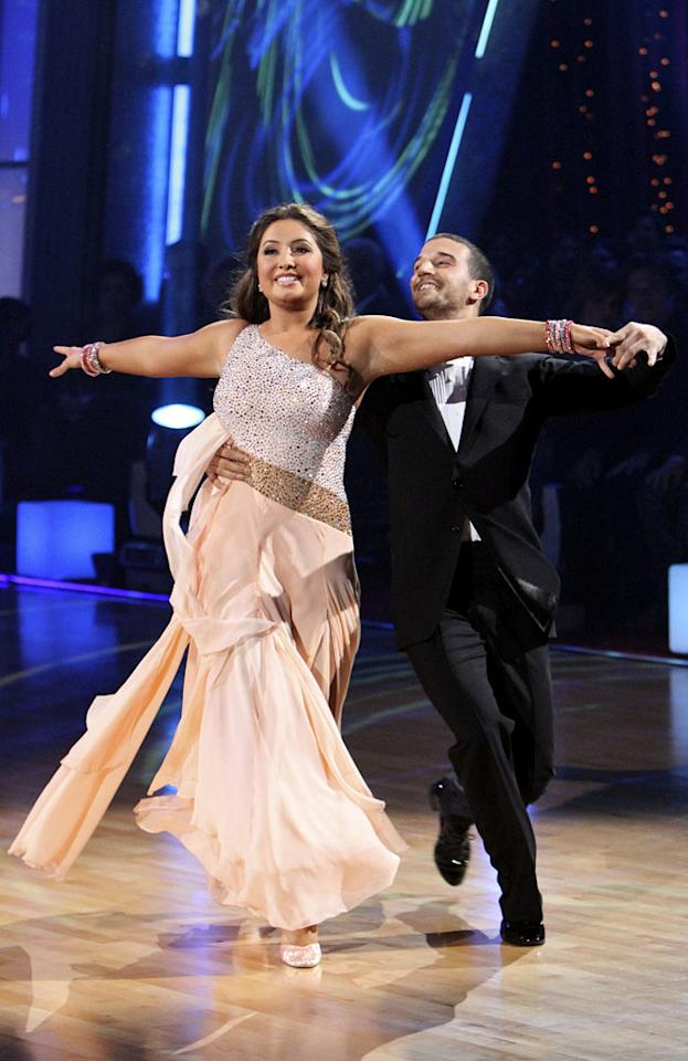 "Week 7: The show's 200th episode fell during Icon Week, in which contestants reproduced great dances from past seasons. Bristol ended up in last place with 57 out of 70, but was good enough for the curiously forgiving voters at home, who voted — on Election Day, no less — to keep Palin and eject Rick Fox. Speculation mounted that the people voting for Palin might be the same folks who voted for Tea Party candidates earlier in the day. <a href=""http://www.thewrap.com/television/article/how-bristol-palin-made-it-dancing-finals-22756"" rel=""nofollow"">Source: The Wrap</a>"