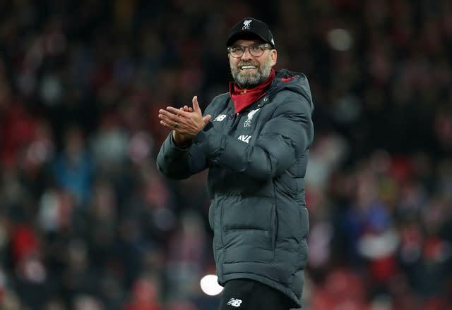Jurgen Klopp made seven changes to his side (Richard Sellers/PA)