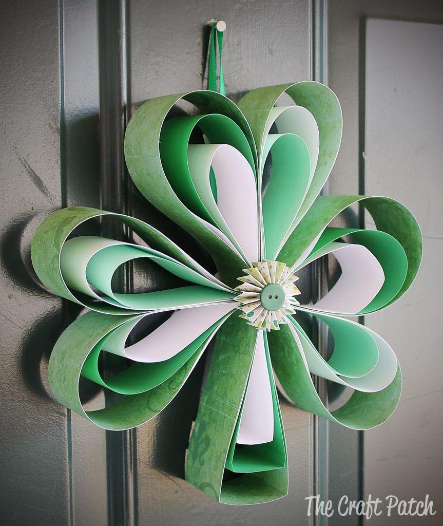 """<p>All you need are different scraps of paper to create this cute shamrock wreath.</p><p><strong>Get the tutorial at <a href=""""https://www.thecraftpatchblog.com/paper-shamrock-wreath/"""" rel=""""nofollow noopener"""" target=""""_blank"""" data-ylk=""""slk:The Craft Patch"""" class=""""link rapid-noclick-resp"""">The Craft Patch</a>.</strong></p><p><strong><a class=""""link rapid-noclick-resp"""" href=""""https://www.amazon.com/ccbetter-Upgraded-Removable-Anti-hot-Flexible/dp/B01178RVI2/?tag=syn-yahoo-20&ascsubtag=%5Bartid%7C10050.g.4035%5Bsrc%7Cyahoo-us"""" rel=""""nofollow noopener"""" target=""""_blank"""" data-ylk=""""slk:SHOP HOT GLUE GUNS"""">SHOP HOT GLUE GUNS</a><br></strong></p>"""