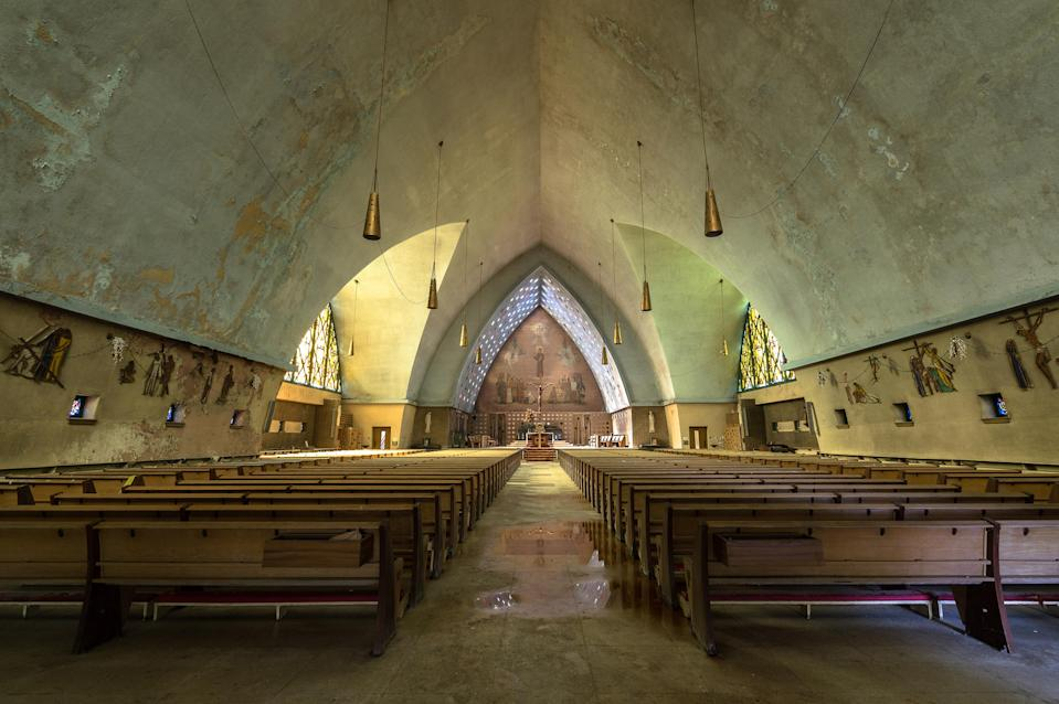 Abandoned religious building, unknown location, North America. (Photo: Freaktography/Caters News)
