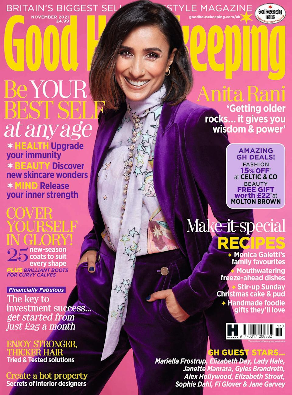 Anita Rani is on the November cover of Good Housekeeping (Helen McArdle)