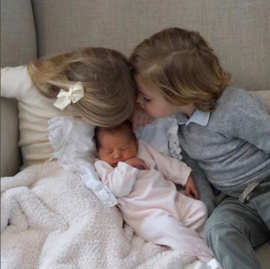 Here she is with her older sister and brother. Photo: Instagram/Princess Madeleine