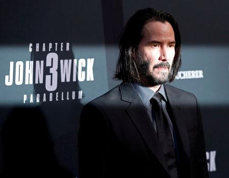 """FILE PHOTO: Cast member Keanu Reeves arrives for a screening of the movie """"John Wick: Chapter 3 - Parabellum"""" in Los Angeles"""