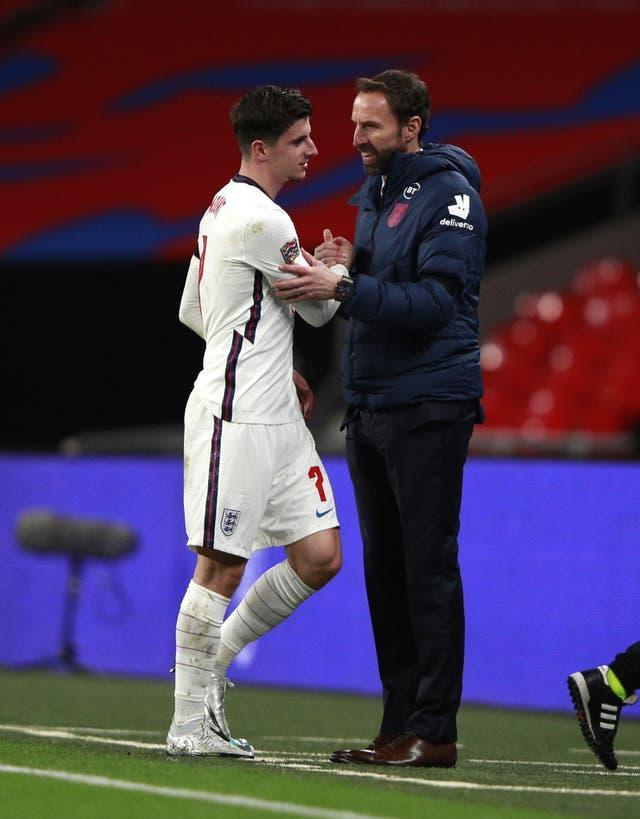Gareth Southgate is excited to work with exciting young England players like Mason Mount