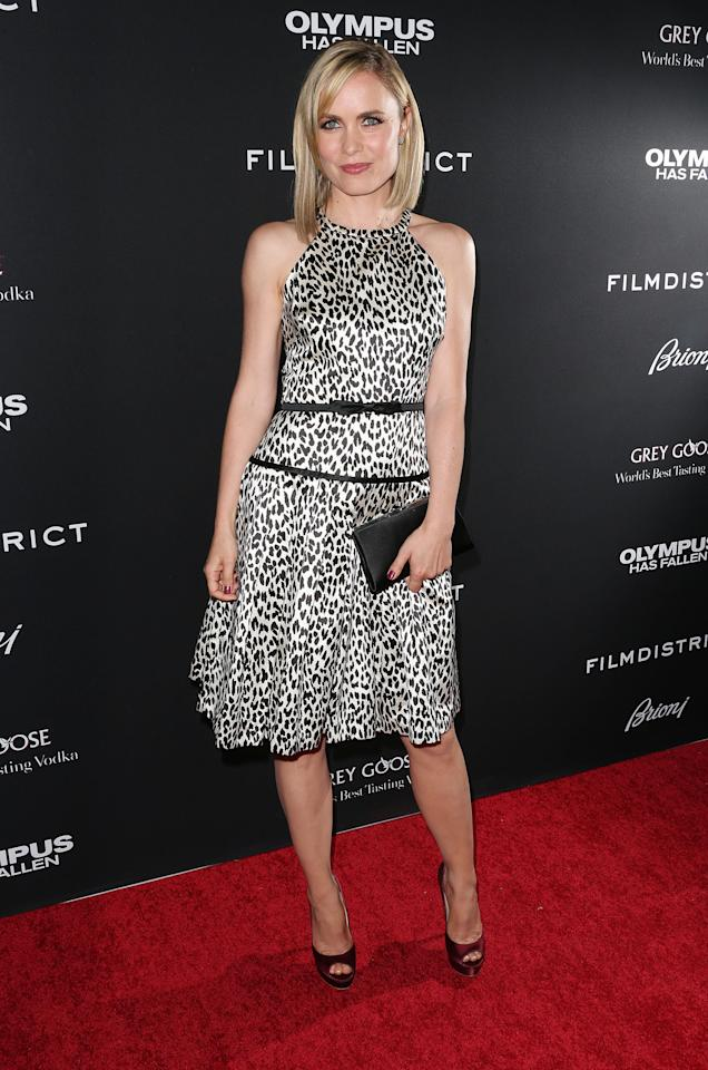 "HOLLYWOOD, CA - MARCH 18: Actress Radha Mitchell attends the Premiere of FilmDistrict's ""Olympus Has Fallen"" at the ArcLight Cinemas Cinerama Dome on March 18, 2013 in Hollywood, California.  (Photo by Frederick M. Brown/Getty Images)"
